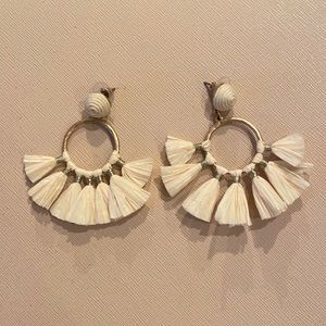 Franchesca's White Tassle Earrings